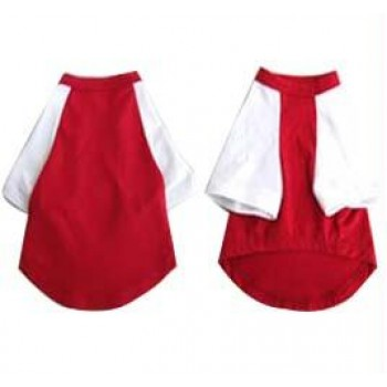 Iconic Pet - Pretty Pet Red and White Top - Large