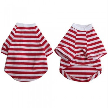 Iconic Pet - Pretty Pet Red and White Striped Top - XX Small