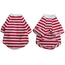 Iconic Pet - Pretty Pet Red and White Striped Top - X Small