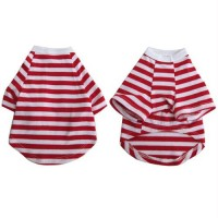 Iconic Pet - Pretty Pet Red and White Striped Top - Large