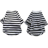 Iconic Pet - Pretty Pet Black and White Striped Top - XX Small