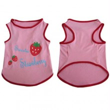 Iconic Pet - Pretty Pet Pink Strawberry Top - XX Small