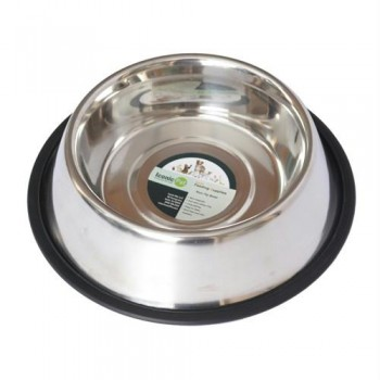 Iconic Pet - Stainless Steel Non-Skid Pet Bowl for Dog or Cat - 96oz - 12 cup