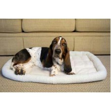 Iconic Pet - Premium Synthetic Sheepskin Handy Bed - White - Large