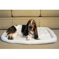 Iconic Pet - Premium Synthetic Sheepskin Handy Bed - White - Xsmall