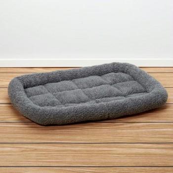 Iconic Pet - Premium Synthetic Sheepskin Handy Bed - Grey - Xsmall