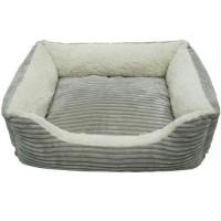 Iconic Pet - Luxury Lounge Pet Bed - Light Gray - Small