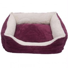 Iconic Pet - Luxury Lounge Pet Bed - Imperial Purple - Medium