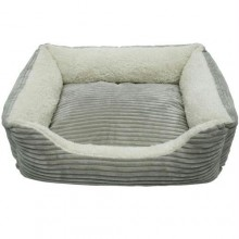 Iconic Pet - Luxury Lounge Pet Bed - Light Gray - Large