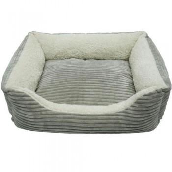 Iconic Pet - Luxury Lounge Pet Bed - Light Gray - Large