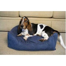 Iconic Pet Luxury Swaddlez Bolster Pet Bed - Denim - Large