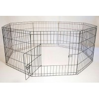 Iconic Pet Octagon Eight Panel Portable (Foldable) Pet Dog Cat Wire Pen - 24in Height