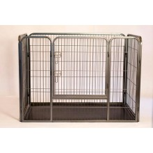 Iconic Pet - Heavy Duty Rectangle Tube pen Dog Cat Pet Training Kennel Crate - 28in Height