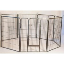 Iconic Pet - Heavy Duty Metal Tube pen Pet Dog Exercise and Training Playpen - 32in Height