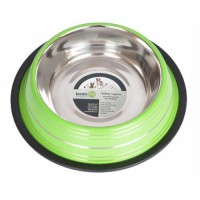 Color Splash Stripe Non-Skid Pet Bowl 32oz - Green
