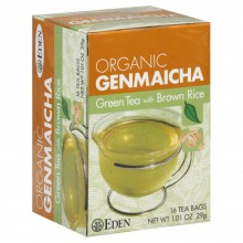 Eden Foods Organic Genmaicha Green Tea and Roasted Brown Rice - 16 Tea Bags