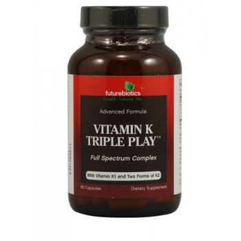 FutureBiotics Vitamin K Triple Play - 60 Capsules