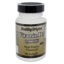 Healthy Origins Vitamin D3 - 1000 IU - 90 softgels
