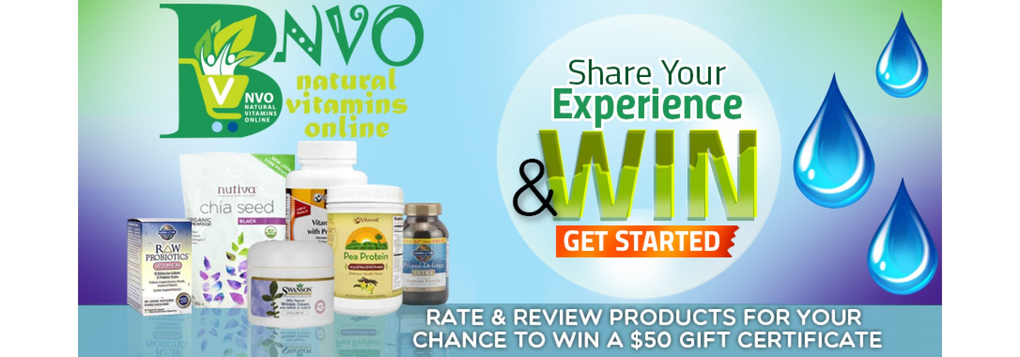 NVO Share and Win gift certificate
