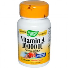 Nature's Way Vitamin A - 10000 IU - 100 Softgels