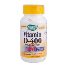 Nature's Way Vitamin D-400 - 400 IU - 100 Capsules