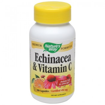 Nature's Way Echinacea and Vitamin C - 492 mg - 100 Capsules