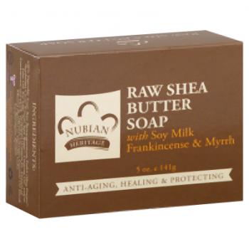 Nubian Heritage Bar Soap Raw Shea Butter with Myrrh - 5 oz