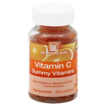 Nutrition Now Vitamin C Adult Gummy Vitamins Orange - 70 Gummies