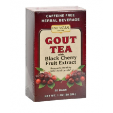 Only Natural Gout Tea with Black Cherry Fruit Extract - 20 Tea Bags