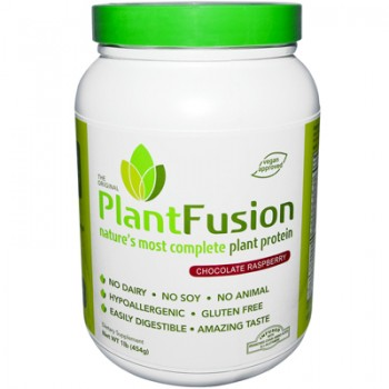 PlantFusion Natures Most Complete Plant Protein - Chocolate Raspberry - 1 lb