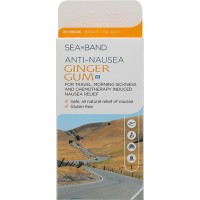 Sea-Band Anti-Nausea Ginger Gum - 24 Pieces