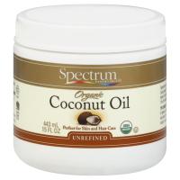 Spectrum Essentials Organic Coconut Oil - Unrefined - 15 oz (Pack of 3)
