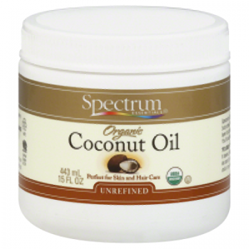 Spectrum Essentials Organic Coconut Oil - Unrefined - 15 oz (Pack of 3)