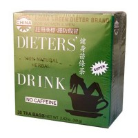 Uncle Lee's China Green Dieters Tea Caffeine Free - 30 Tea Bags