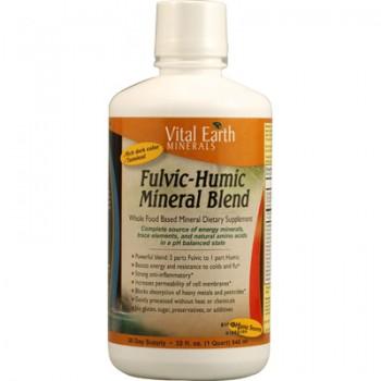 Vital Earth Minerals Fulvic-Humic Mineral Blend - 32 fl oz
