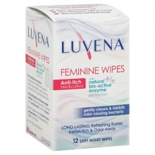 Luvena Anti-Itch Wipes - Medicated - 12 Pack