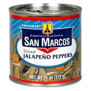 San Marcos Sliced Jalapeno Pepperss (12x11Oz)