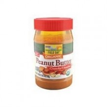 Field Day Organic Easy Spread Peanut Butter, Crunchy, No Salt (12x18Oz)