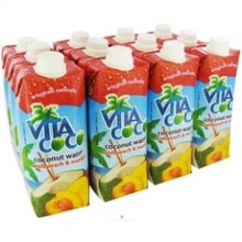 Vita CocoCoconut Water 500 Ml Peach & Mango (12x17Oz)