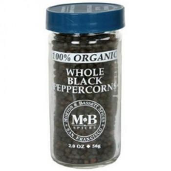 Morton & Bassett Organic Whole Black Pepper (3x2Oz)