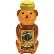 Glorybee Squeezable Organic Honey Bear, Clover (6x12Oz)