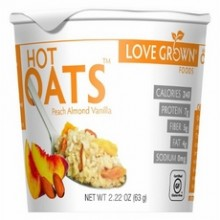 Love Grown Hot Peach Almond Vanilla Oats (8x2.22Oz)