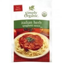 Simply Organic Italian Herb Spag Sauce (12x1.31Oz)