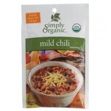 Simply Organic Mild Chili, Seasoning Mix, Certified Organic (12x1Oz)