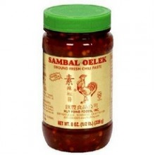 Huey Fong Sambal Oelek Ground Fresh Chili Paste (24x8Oz)