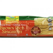 Field Day Pasta Organic Brown Rice Spaghetti (12x12Oz)