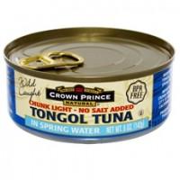 Crown Prince Natural Chunk Light Tongol Tuna In Spring Water (12x5Oz)