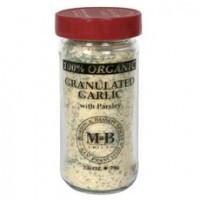 Morton & Bassett Organic Granulated Garlic With Parsley (3x2.6Oz)
