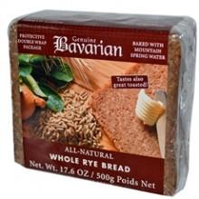 Bavarian Organic Whole Rye Bread (6x17.6Oz)