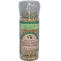 Frontier Organic Ceylon White Peppercorns (6x2.08Oz)